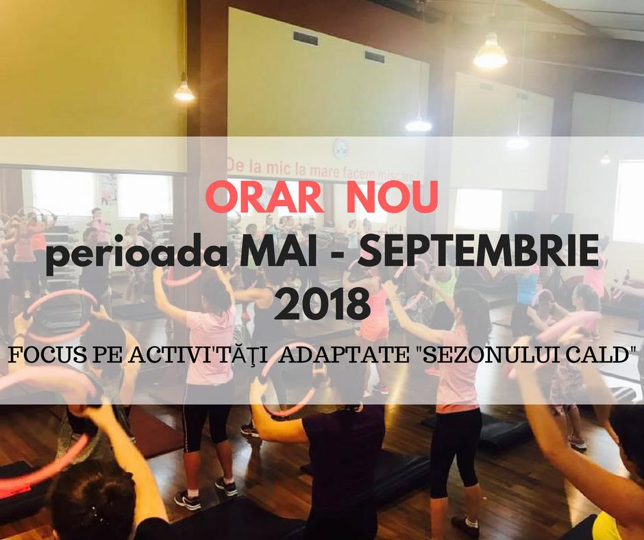 ORAR NOUperioada MAI - SEPTEMBRIE 2018